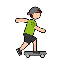 Ethlete practicing skete board avatar vector