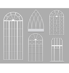 Vintage windows white vector