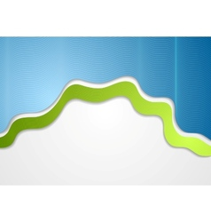 Green blue wavy background vector