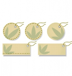 Fabric labels vector