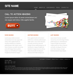 Modern website vector