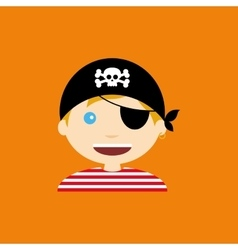 Pirate costume vector