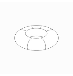 Swim ring icon isometric 3d style vector