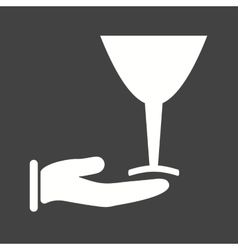 Serve wine vector