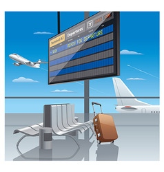 Airport departure vector