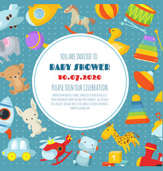 baby shower born celebration background or vector image vector image