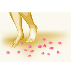 Bare feet vector