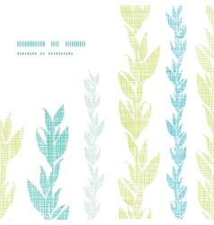 Blue green seaweed vines frame corner pattern vector