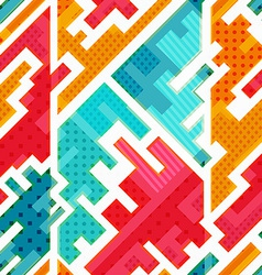 Bright funky seamless pattern vector