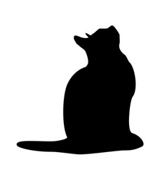 cats collection - silhouette vector image