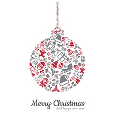 Christmas ball and icon vector image vector image