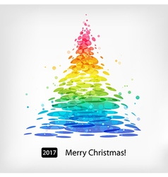 Colored christmas tree vector