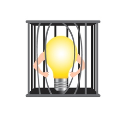 Damage the cage for freedom idea vector