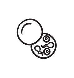 Donor sperm sketch icon vector