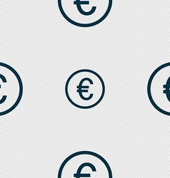 Euro icon sign Seamless abstract background with vector image