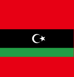 flag of libya vector image