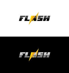 Flash lightning logo vector