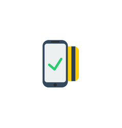 Flat icon contactless element vector