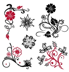 Flowers floral vector image vector image