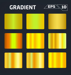gold gradient set vector image vector image
