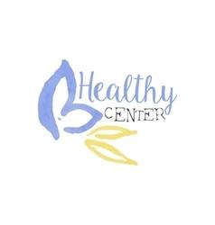 Healthy center beauty promo sign vector