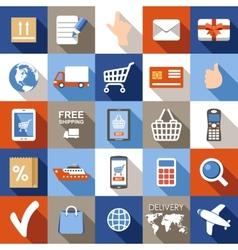 Internet shopping e-commerce online shopping set vector image