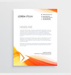 modern creative letterhead design template vector image
