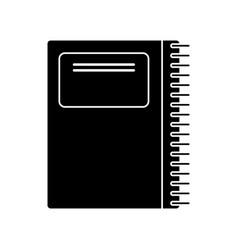 Notebook spiral school pictogram vector