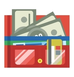 Purse wallet icon vector