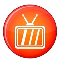 Retro tv icon flat style vector