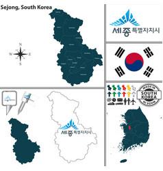 sejong special self governing city south korea vector image vector image