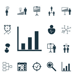 Set of 16 management icons includes conversation vector