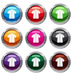 shirt polo set 9 collection vector image