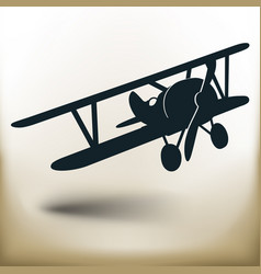 simple old airplane vector image