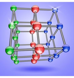 square crystal lattice vector image
