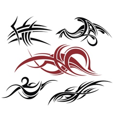 Tribal element design vector image