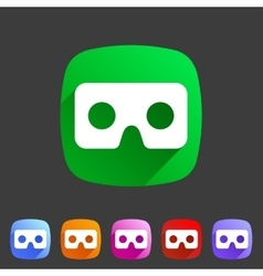 Virtual reality cardboard goggles glasses icon vector