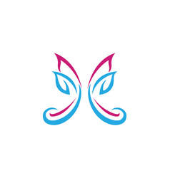 - butterfly conceptual simple colorful ico vector