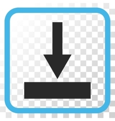 Move bottom icon in a frame vector