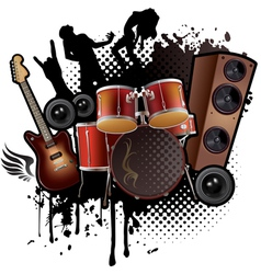 Rock music abstract vector