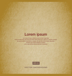 Background design texture of the old paper brown vector