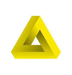 abstract impossible triangle vector image