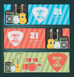 Music banner background vector