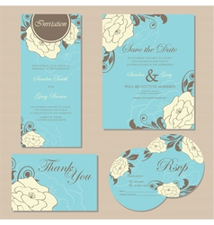 Wedding set copy vector