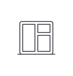 Window whith sill thin line icon linear vector