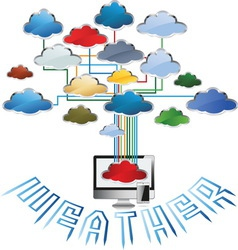 WEATHER FORECAST 3 vector image