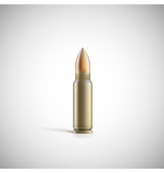 Rifle bullet isolated on white photo-realistic vector