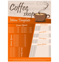 Coffee shop menu vector