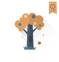 Stylized tree with hollow vector