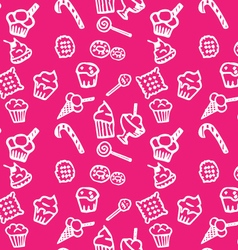 Sweets white pattern vector